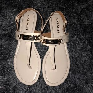 Coach sandals in size 8